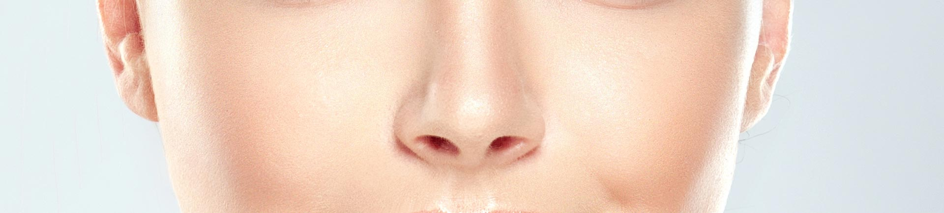 Nose of a beautiful model