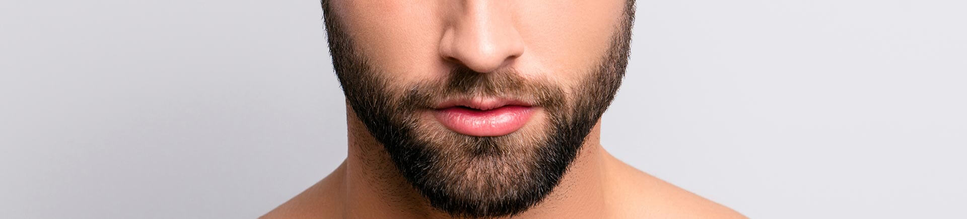 Beard of a young man