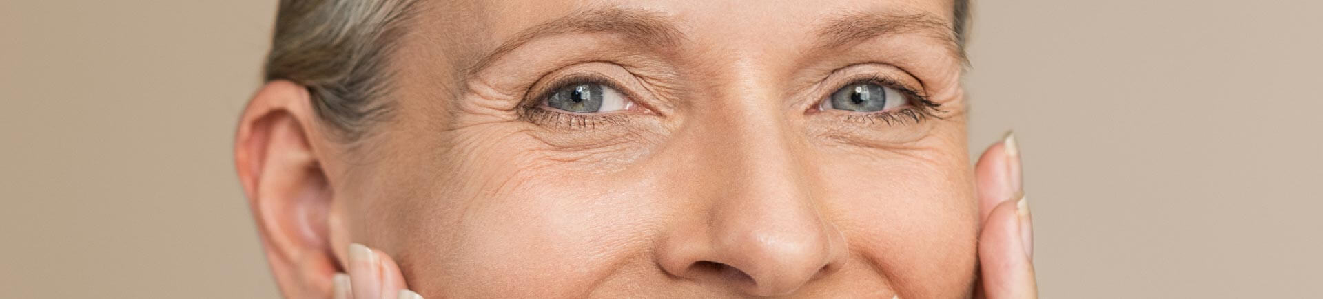 Eyes of a middle-aged woman
