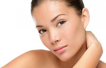 Beautiful face of young caucasian woman with perfect health skin